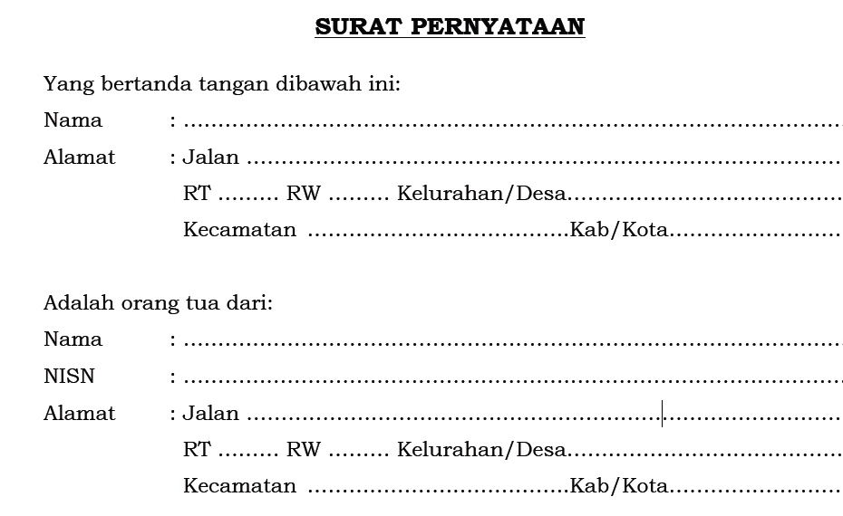 Contoh Surat Pernyataan Kebenaran Data Smp Negeri 1 Ngawen